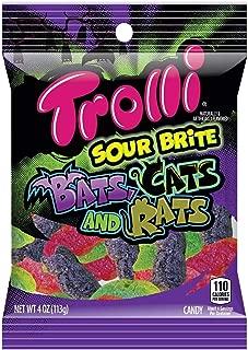 Trolli Sour Brite Halloween Bats Cats and Rats Gummy Candy Mix, 4oz