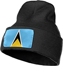 MASDUIH Rich Cotton Lucia Flag Beanie Caps Warm Soft Hats Knit Skull Caps
