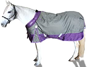 "Derby Originals Windstorm 1200D Ripstop Waterproof Winter Heavyweight Horse Turnout Blanket with 300g Insulation and Two Year Warranty 72"" 80-8037V2-CHR-72"