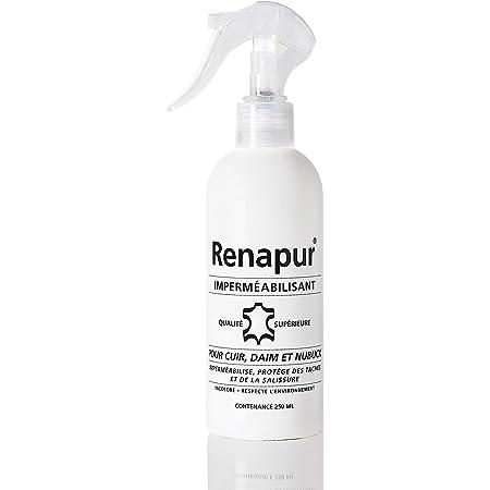 RENAPUR Imperméabilisant pour cuir, daim, nubuck et tissus 250ML (marque Française)