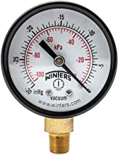 Winters PEM Series Steel Dual Scale Economical All Purpose Pressure Gauge with Brass Internals, 30