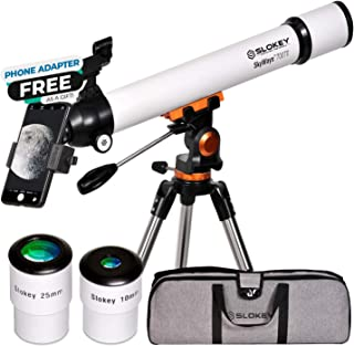 Télescope Astronomique Professionnel pour Enfants et Débutants - Portable et Puissant 28x-210x, Facile à Utiliser - Idéal ...