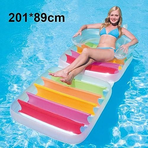 Aufblasbares sich hin- und herbewegendes Bett der doppelten sich hin- und herbewegenden Reihe Aufblasbare Spielzeuge, schwimmendes Stiefelwasserbettstrandmattenluftkissen -216 × 178CM