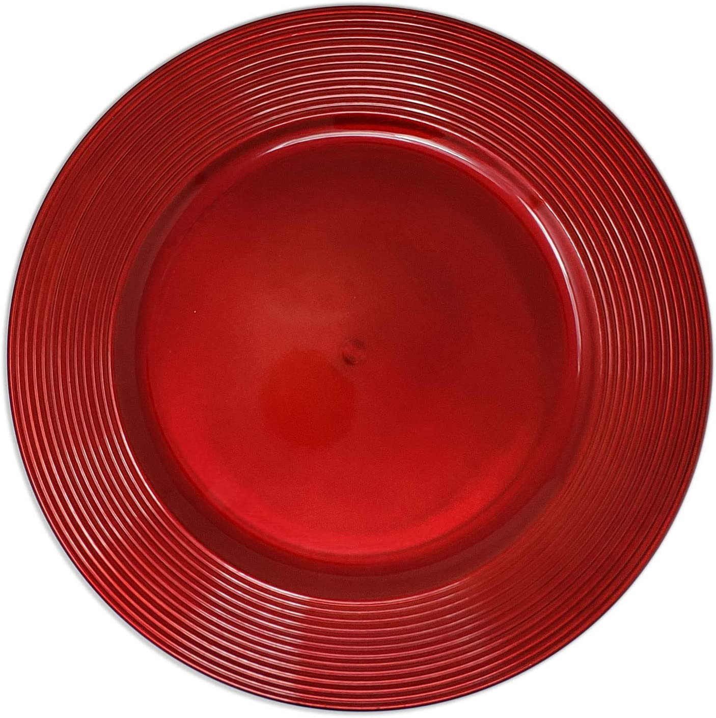 New Elegant Christmas Cherry Red Round Plate R Charger Selling 13