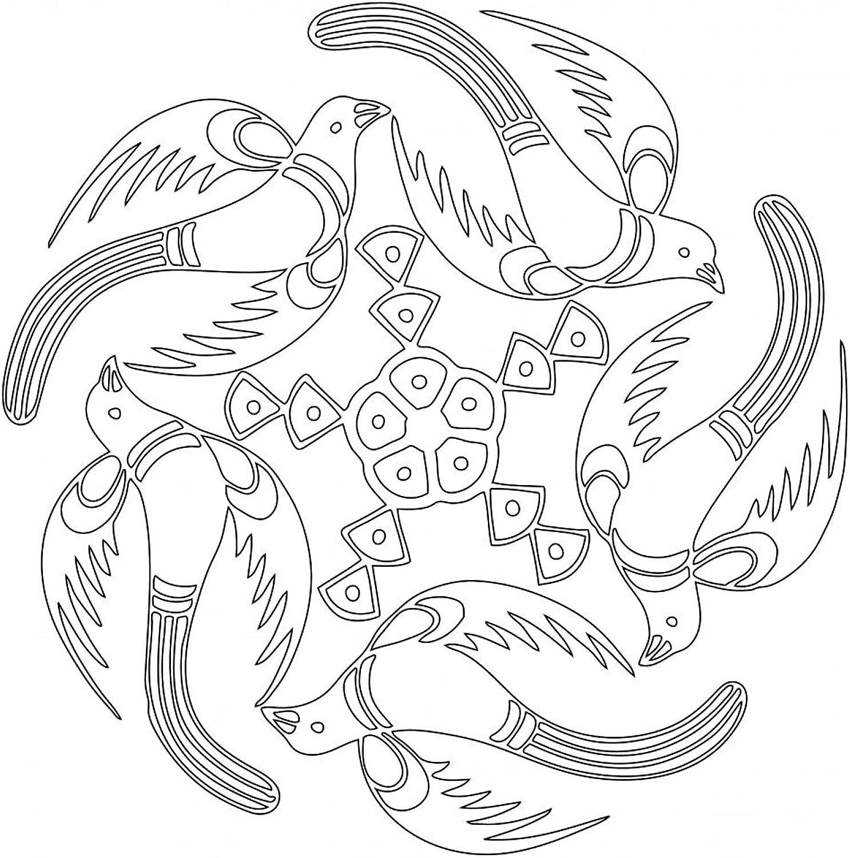Lebensfreudeladen Mandala Leinwandmalvorlage 147 100 x 100 cm B00G28L4VS   Meistverkaufte weltweit