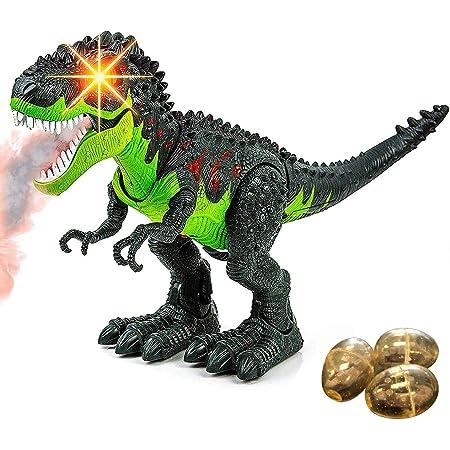 "15/"" Dinosaur Model Lay Eggs Simulated Lighting Battery Kids Animal Toy Gift"