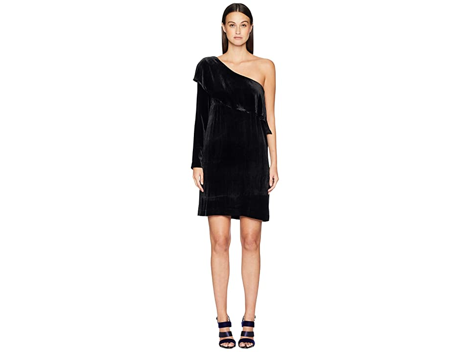 Nicole Miller One Shoulder Dress (Black) Women