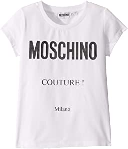 Short Sleeve T-Shirt with Couture Logo (Big Kids)