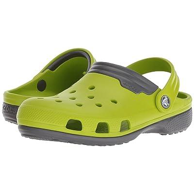 Crocs Duet (Volt Green/Graphite) Clog Shoes