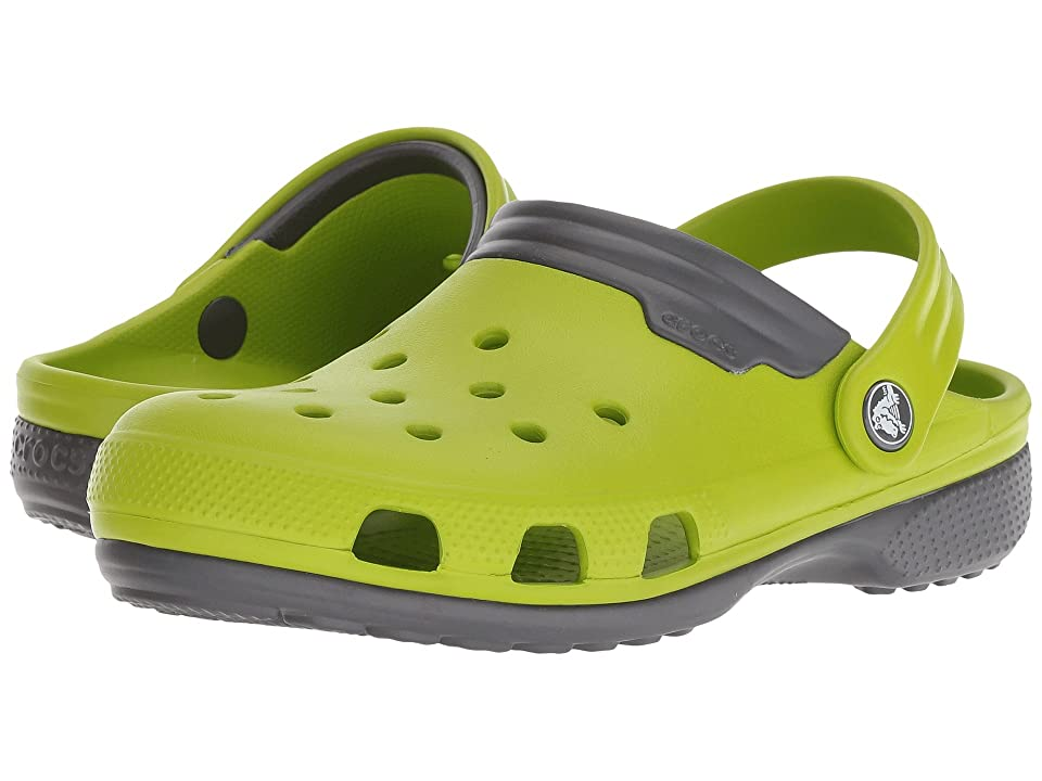Crocs Duet (Volt Green/Graphite) Clog Shoes