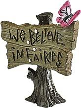 Georgetown Home & Garden Miniature Butterfly Sign We Believe in Fairies Garden Decor
