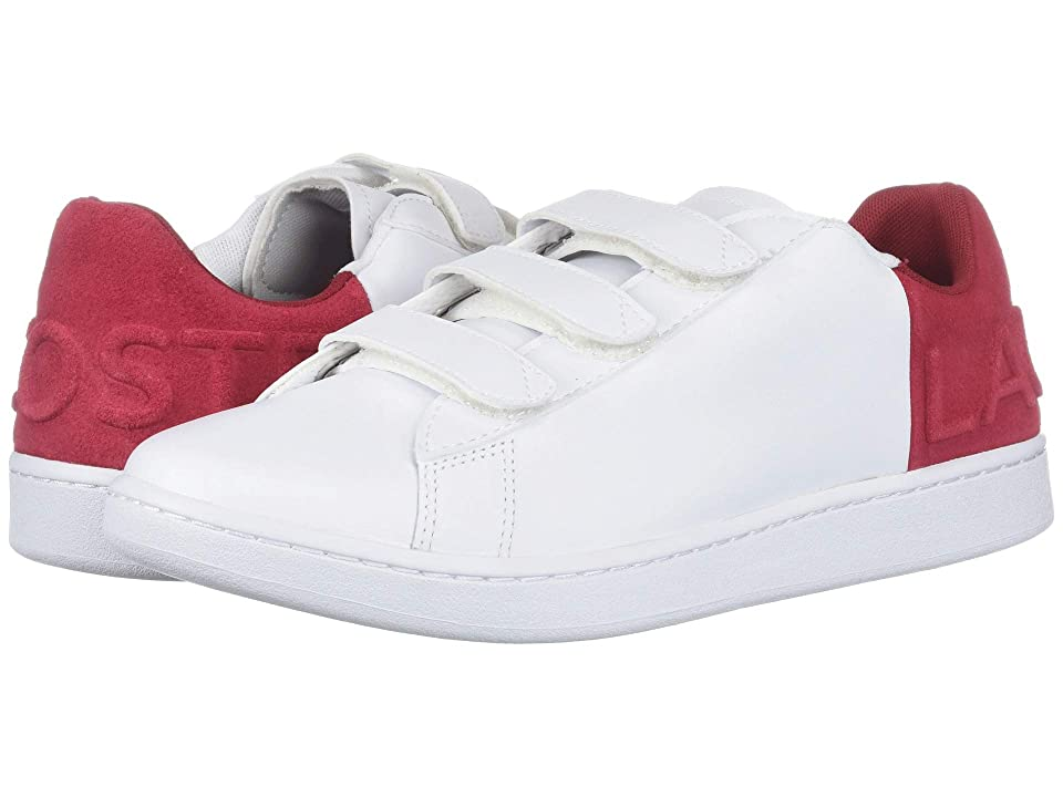 Lacoste Carnaby Evo Strap 318 1 (White/Red) Men