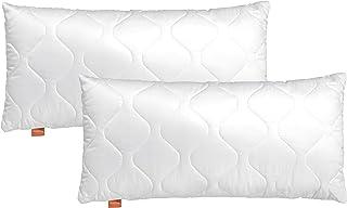 sleepling Comfort 196141 Lot de 2 Oreillers en Microfibre 50 x 75 cm, Blanc