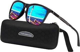 b34b5edf8d Perfectmiaoxuan Gafas de sol polarizadas Hombre Mujere Lujo Retro/Aire  libre Deportes Golf Ciclismo Pesca