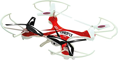 Jamara CD22-422002 - Triefly AHP Quadrocopter avec caméra HD - Rouge