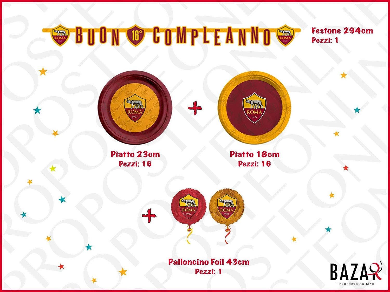 Roma Kit per Festa e Party Articoli 100% Ufficiali Compleanno Festa per Bambini 3668