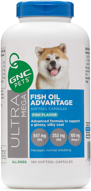 GNC Pets Ultra Mega Fish Oil Supplement for Dogs - Dogs Hip & Joint Supplement, Dogs Shedding Supplement, Dog Health - GNC Fish Oil Advantage, GNC Fish Oil Dogs, GNC Pets Fish Oil Advantage