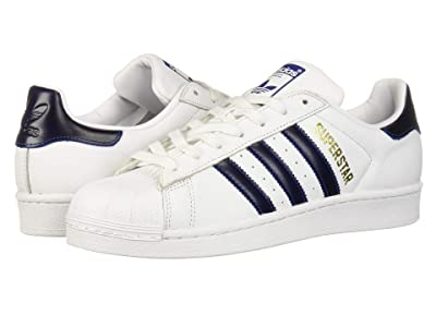 adidas Originals Superstar (White/Collegiate Royal/Gold Metallic) Men
