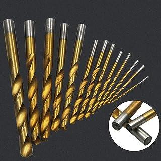 ASNOMY 13 Pezzi Set di cobalto Set di punte per trapano HSS metallo, per avvitatore a batteria, Foratura di plastica, legn...