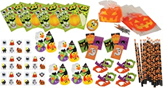 100 Piece Bulk Halloween Party Favor Bundle Assortment Pack of Toys for Kids Parties, Pinatas, Trick or Treat, Classroom or Carnivals