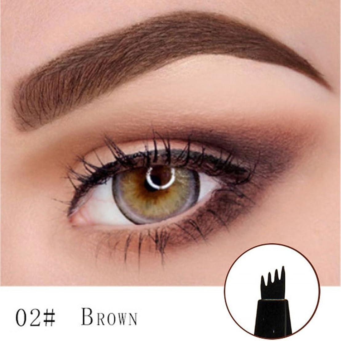 調和雑草教育者Microblading Eyebrow Tattoo Pen (Brown) Micro Blade Eyebrow Tattoo Pen (Brown)