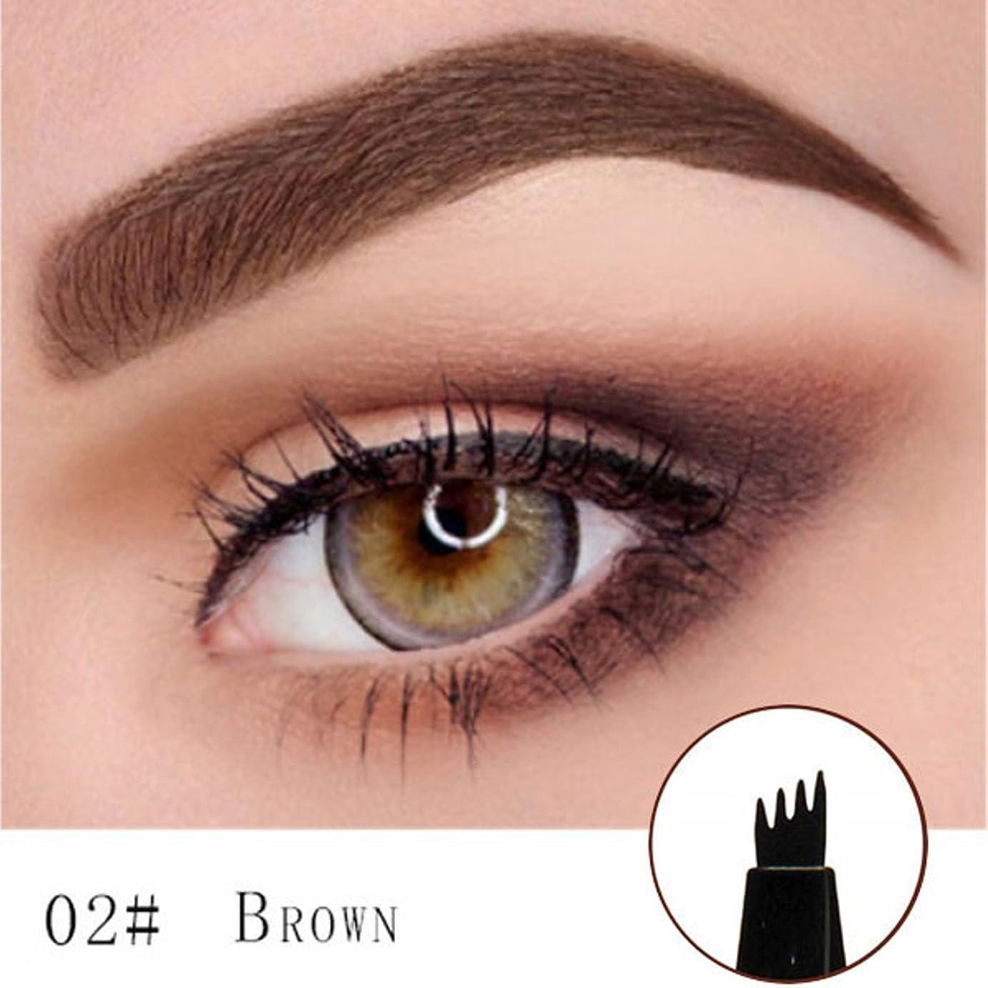 ボア科学球状Microblading Eyebrow Tattoo Pen (Brown) Micro Blade Eyebrow Tattoo Pen (Brown)