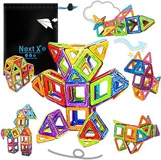Bloques de construcción magnéticos, bloques de construcción magnéticos 3D Juego de inspiración de construcción estándar para niños - Juguetes educativos creativos para niños (64 pcs)