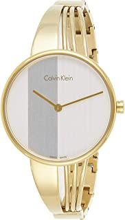 Calvin Klein Womens Quartz Watch, Analog Display and Stainless Steel Strap K6S2N516