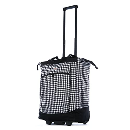 Olympia Fashion Rolling Shopper Tote - Houndstooth a8a8197247896