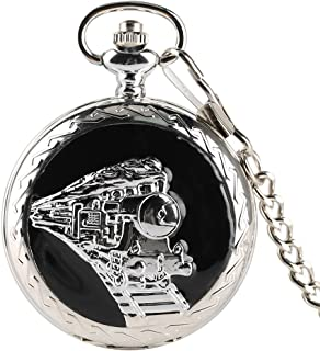 Vintage Bronze Quartz Pocket Watch Analog Pendant Necklace Pocket Watch Chain for Men Women Boy Girl Kids Xmas Gift - Ahmedy Pocket Watch