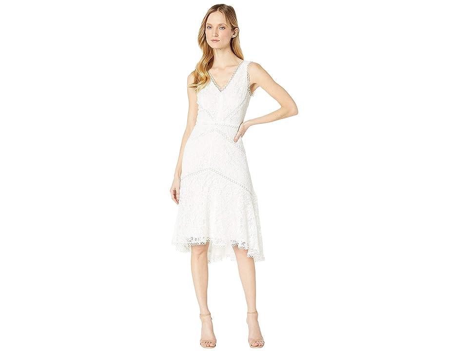 Taylor V-Neck Sleeveless Lace Dress (Ivory) Women