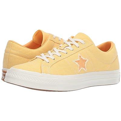 Converse One Star Sunbaked Ox (Butter Yellow/Melon Baller/Egret) Classic Shoes