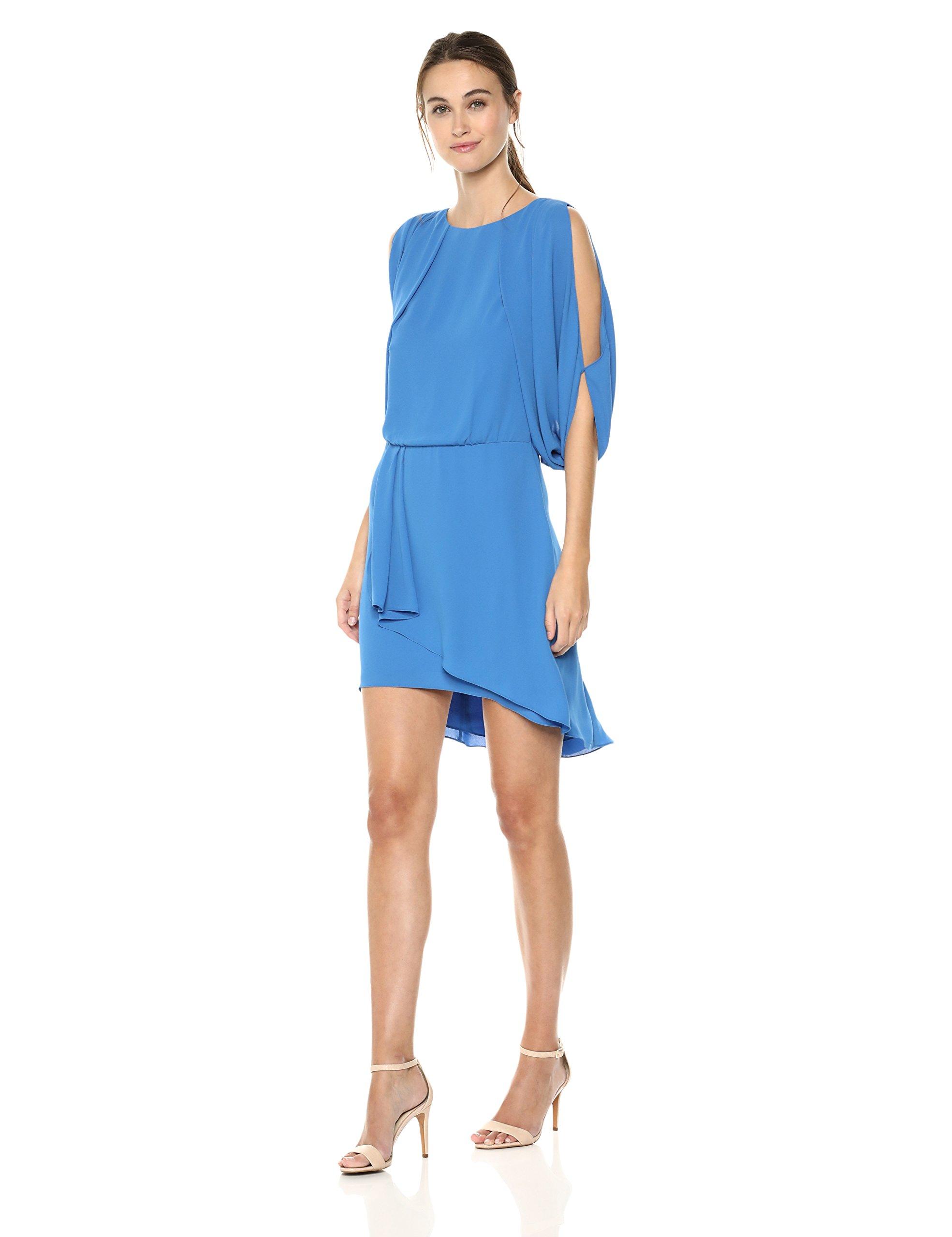 Available at Amazon: Halston Heritage Women's Cape Sleeve Draped Open Back Dress