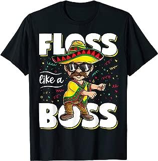 Floss Like A Boss Cinco de Mayo Flossing Men Mexican Poncho T-Shirt