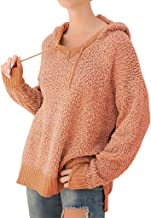 Trolimons Women Blouse Plus Size Drawstring Fleece Solid Long Sleeve Hoodie Sweater Long Thermal Winter Solid Color