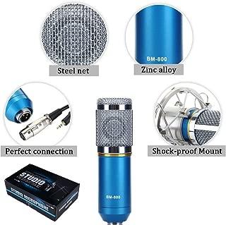 Generic Sound Studio Recording Dynamic Professional Condenser Microphone Set, Blue (Requires phantom power connection)
