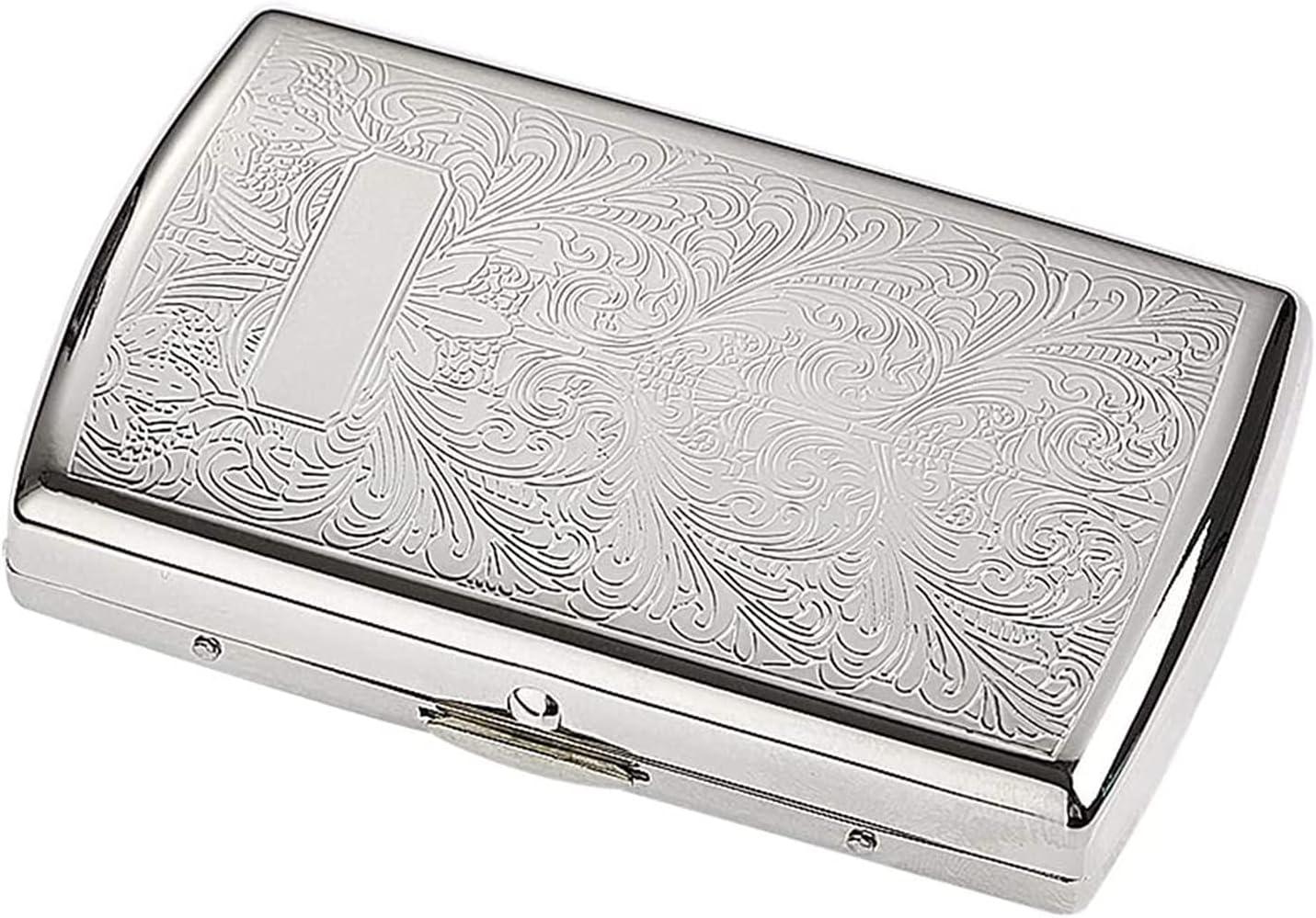 ZXNRTU At the price Cigarettes Box Silver Pure Vintage Copper Carved P Dallas Mall Design