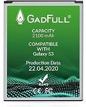 GadFull Batería de reemplazo para Samsung Galaxy S3   2020 Fecha de producción   Corresponde al Original EB-L1G6LLU   Compatible con Galaxy S3 i9300   Galaxy S3 LTE i9305 batería de Repuesto