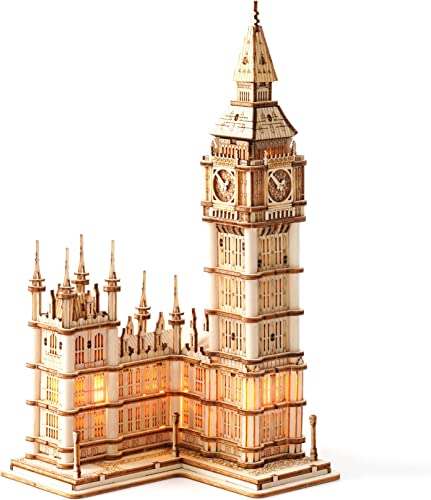 popular Rolife 3D outlet sale Wooden Puzzles for Adults Big Ben new arrival with Lights Architecture Model and Building Kit(TG507) online