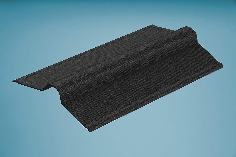 Braun Firsthauben f/ür Bitumenwellplatten 850 x 420 mm