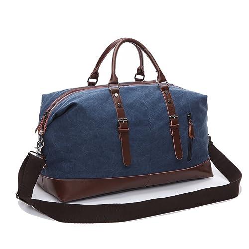 ecf6cd3dff8e Canvas Duffel Bag Oversized Travel Overnight Weekender Luggage for Men Women
