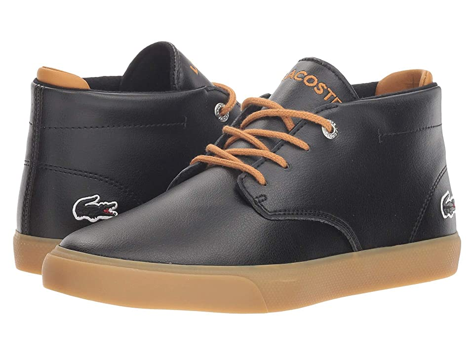 Lacoste Kids Esparre Chukka (Little Kid/Big Kid) (Black/Dark Tan) Kid