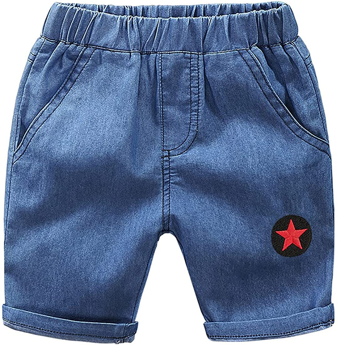 Deer Mum Fashion Style Kids Little Boy's Denim Shorts