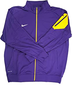 Nike Dri-Fit Men's Purple/Yellow Full-Zip Jacket - Small