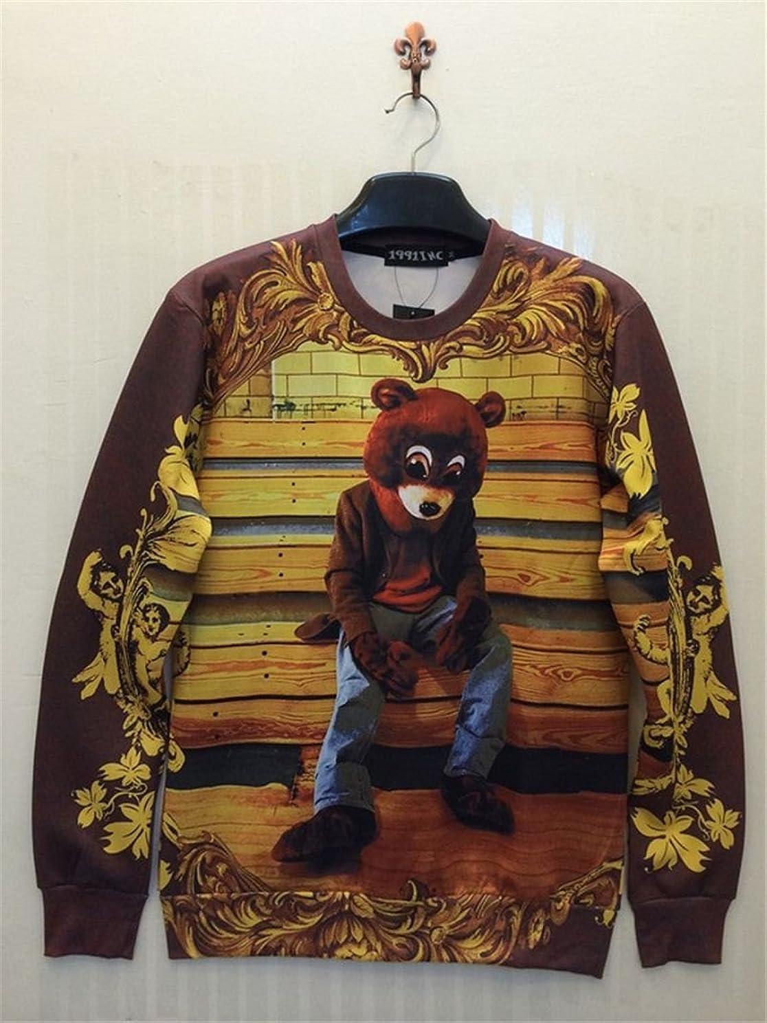 Unisex 3D Print Galaxy Animal hipster sweater sweatshirt Pullover(people)