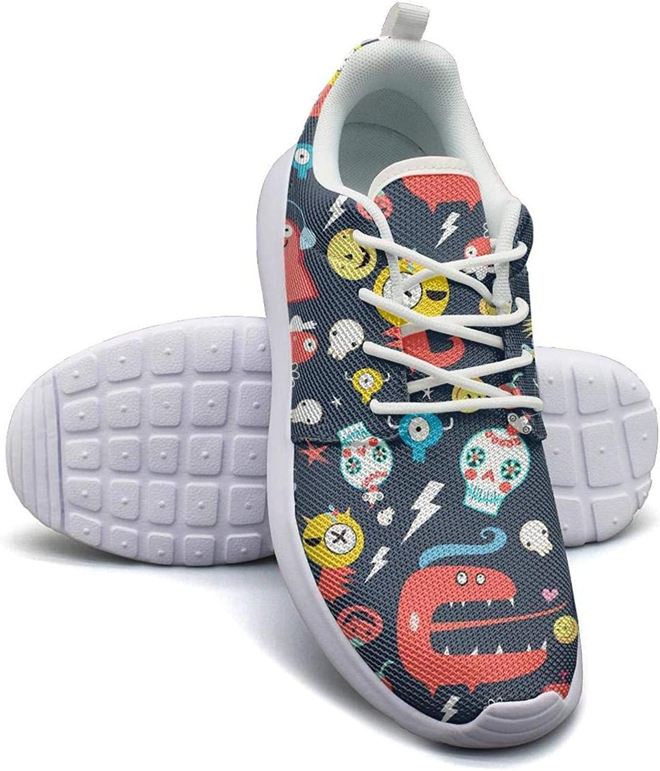 Kanf saysfg Cute Doodle Halloween Fashion Running Sneakers for Women Lightweight Breathabl Athletic shoes