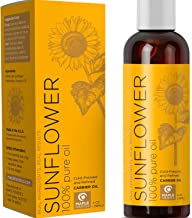 100% Pure Sunflower Seed Oil Anti-Aging Natural Skin Care and Hair Conditioner Health Beauty Carrier Oil for Aromatherapy ...