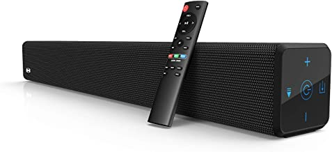 2.1 Channel 100Watt Sound bar(2020 Model), Bestisan Soundbar with Built in Subwoofer Bluetooth 5.1 Surround Sound Systems (32Inches, DSP, Touch Remote Control, Bass Adjustable)