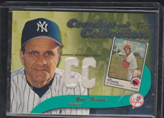 2002 Topps Coaches Collection Joe Torre Yankees Game Used Jersey Baseball Card #CC-JT