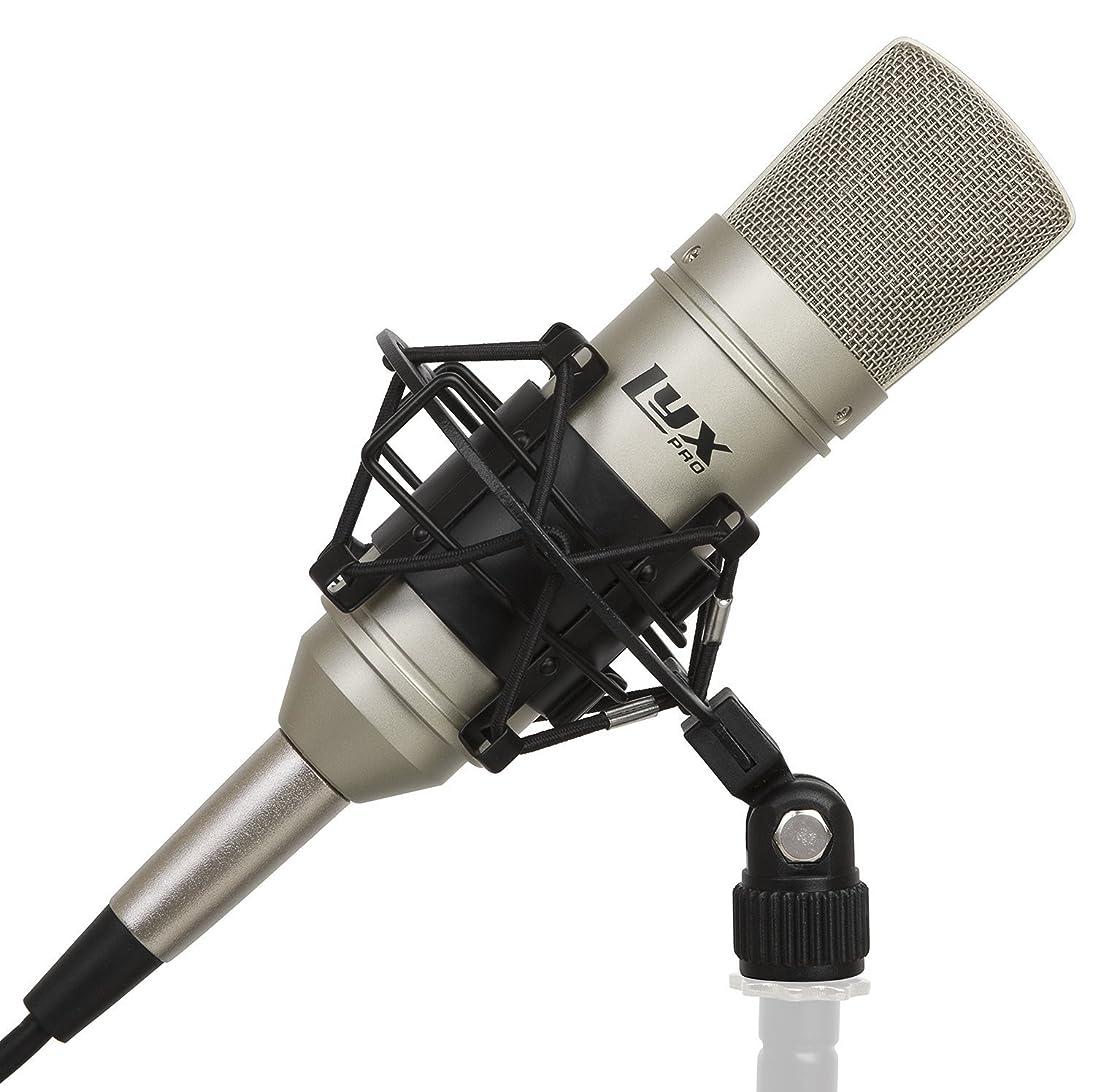 LyxPro LDC-10 Cardioid Condenser Studio Microphone, Shockmount, 10 Ft XLR Cable & Foam Wind Screen for Professional Home Recording fecziseztkr851